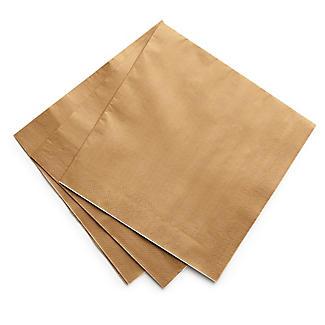 30 Gold Paper Napkins