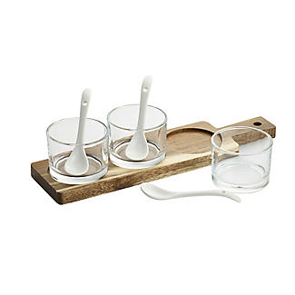 Lakeland Glass Serving Trio with Wooden Paddle alt image 2