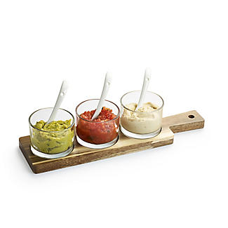Lakeland Glass Serving Trio with Wooden Paddle alt image 4