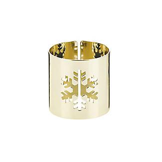 4 Gold Snowflake Napkin Rings alt image 4