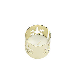 4 Gold Snowflake Napkin Rings alt image 5