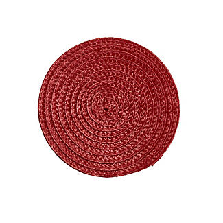 4 Ribbed Red Coasters alt image 2