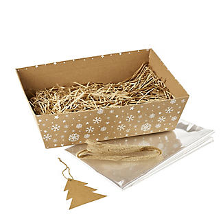 Kraft Snowflake Make-Your-Own Hamper Kit