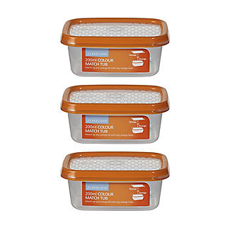 Colour Match Lidded Food Storage Containers 200ml x 3