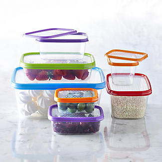Colour Match Lidded Food Storage Containers 600ml x 3 alt image 3