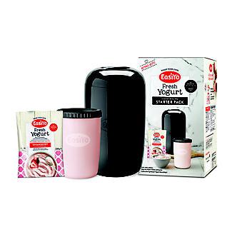 EasiYo 1kg Yoghurt Maker Black and 1 Sachet Starter Kit
