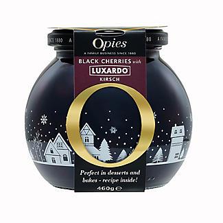 Opies Black Cherries with Luxardo Kirsch 460g