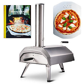 Ooni Karu Outdoor Pizza Oven UU-P0A100 with Pizza Peel and Cookbook
