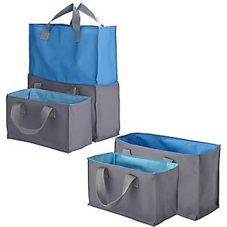 2-in-1 Shopping Trolley Tote Bags Set of 4