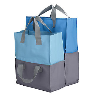 2-in-1 Shopping Trolley Tote Bags Set of 4 alt image 2