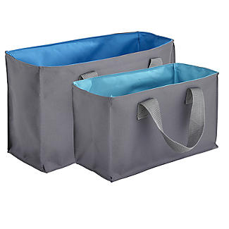 2-in-1 Shopping Trolley Tote Bags Set of 4 alt image 8