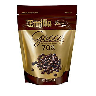 Emilia Zaini Extra Dark Chocolate Baking Chips 180g
