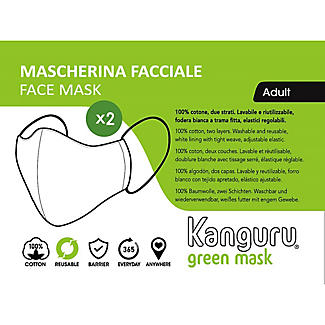 2 Kanguru Adults Cotton Face Masks  alt image 3
