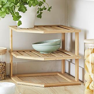 Lakeland Bamboo Corner Shelf alt image 2