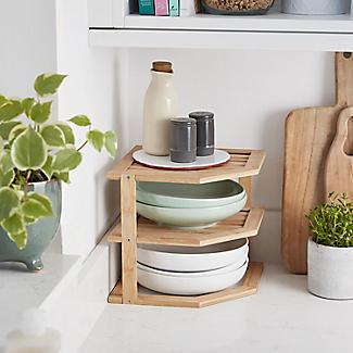 Lakeland Bamboo Corner Shelf alt image 6
