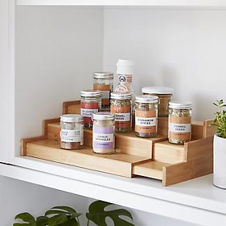 Lakeland Bamboo Expandable Shelf Organiser alt image 2