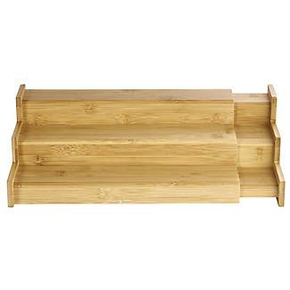 Lakeland Bamboo Expandable Shelf Organiser alt image 3