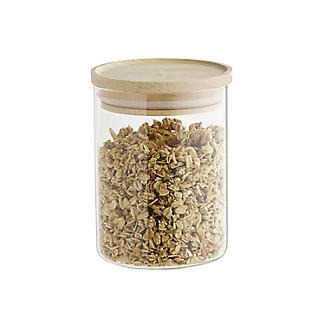 Lakeland Glass Storage Jar with Bamboo Lid – 600ml