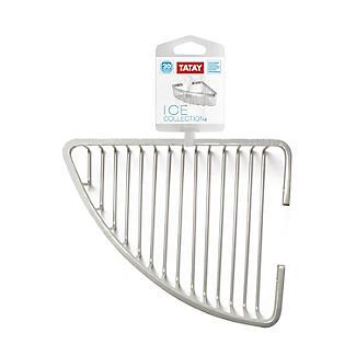 Tatay Ice Collection Aluminium Corner Shower Caddy alt image 4