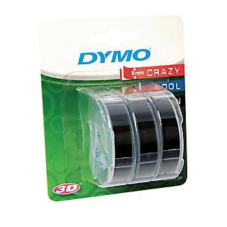 DYMO Embossing Label Maker Tape – Set of 3 Black  alt image 3