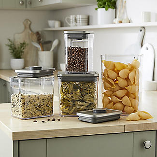 OXO Good Grips Steel Pop Square Food Storage Container 1L alt image 2