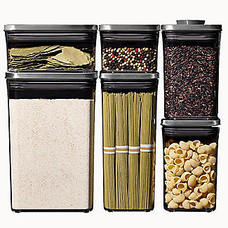 OXO Good Grips Steel Pop Square Food Storage Container 1L alt image 7