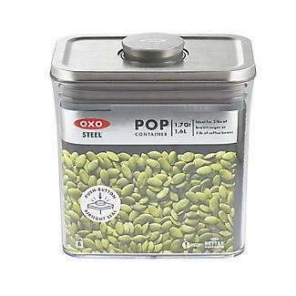 OXO Good Grips Steel Pop Rectangular Food Storage Container 1.6L alt image 2