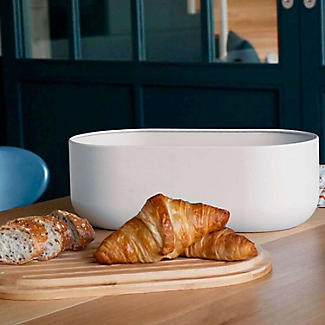 Pebbly 4-in-1 Bread Bin Set with Board, Knife and Bag alt image 2
