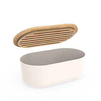 Pebbly 4-in-1 Bread Bin Set with Board, Knife and Bag alt image 4