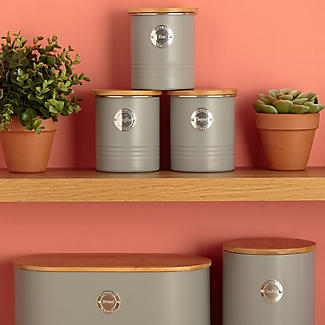 Typhoon Living Tea Storage Canister – Putty Grey 1L alt image 3