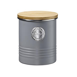 Typhoon Living Coffee Storage Canister – Putty Grey 1L