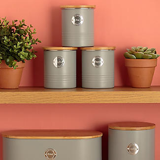 Typhoon Living Coffee Storage Canister – Putty Grey 1L alt image 2
