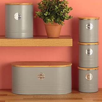 Typhoon Living Coffee Storage Canister – Putty Grey 1L alt image 4