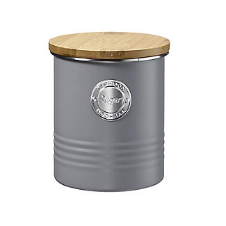 Typhoon Living Sugar Storage Canister – Putty Grey 1L