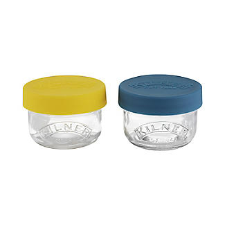 Kilner Glass Snack and Store Pots 125ml – Set of 2
