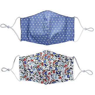2 Lakeland Reusable Adult Face Coverings – Floral/Dotty