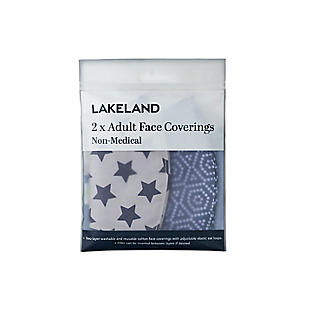 2 Lakeland Reusable Adult Face Coverings – Geometric/Star alt image 2