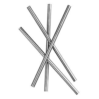 4 Mini Stainless Steel Straws