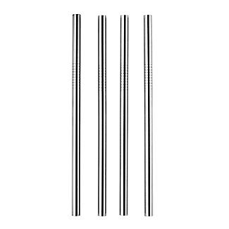 4 Mini Stainless Steel Straws alt image 2
