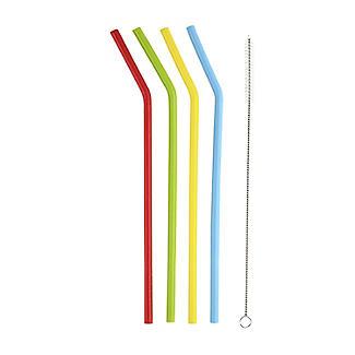 4 Eco-Friendly Bendy Flexi Straws alt image 2