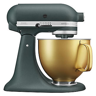 KitchenAid Artisan 4.8 Litre Stand Mixer Pebbled Palm Gold Bowl Limited Edition alt image 1