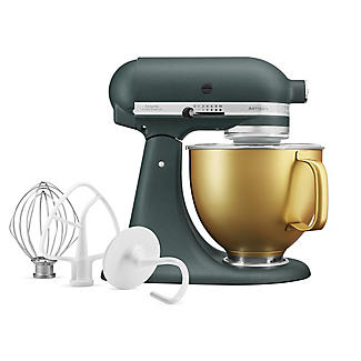 KitchenAid Artisan 4.8 Litre Stand Mixer Pebbled Palm Gold Bowl Limited Edition alt image 2