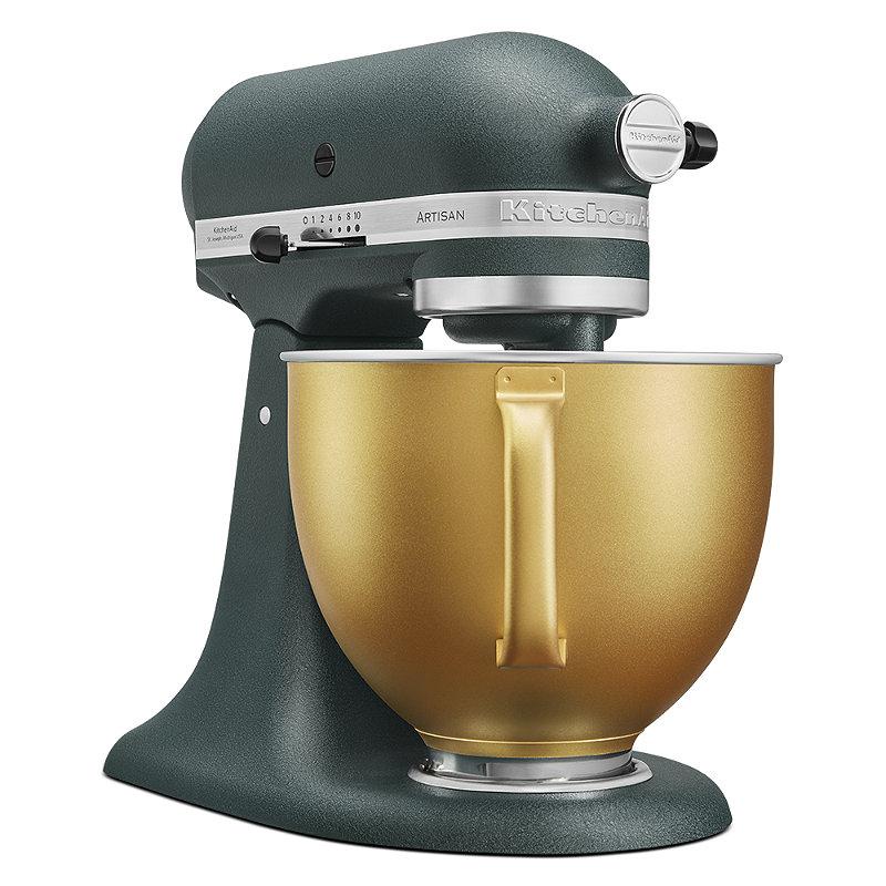Kitchenaid Artisan 4 8 Litre Stand Mixer Pebbled Palm Gold Bowl Limited Edition Lakeland