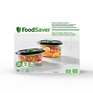 2 FoodSaver Containers 700ml and 1.2 Litre alt image 5