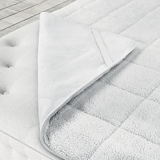Single Dreamland Scandi Heated Sherpa Underblanket Full Bed 16694 alt image 7