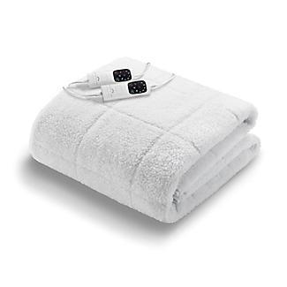 Double Dual Control Dreamland Scandi Heated Sherpa Underblanket Full Bed 16696