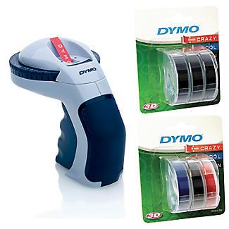 DYMO Omega Embosser Maker & 6 Extra Tape Reels