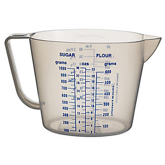 Lakeland Clear Plastic Measuring Jug 1L