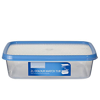 2L Colour Match Lidded Food Storage Container