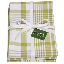 3 Cactus Jumbo Check Tea Towels